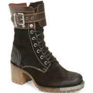 Fly London   Lask Boot   Black Combat Boot